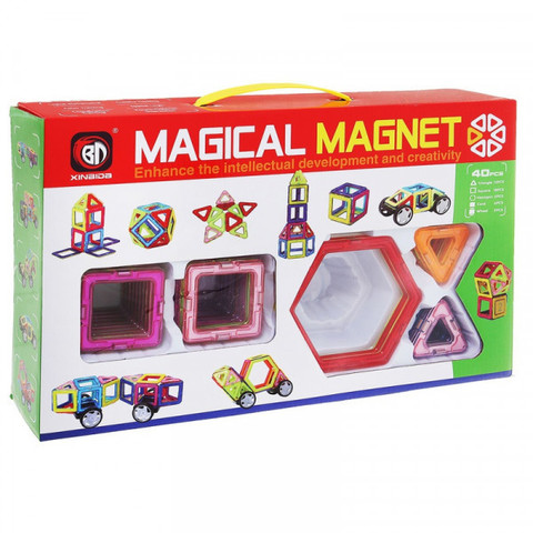 Магнитный конструктор 40 деталей Magical Magnet