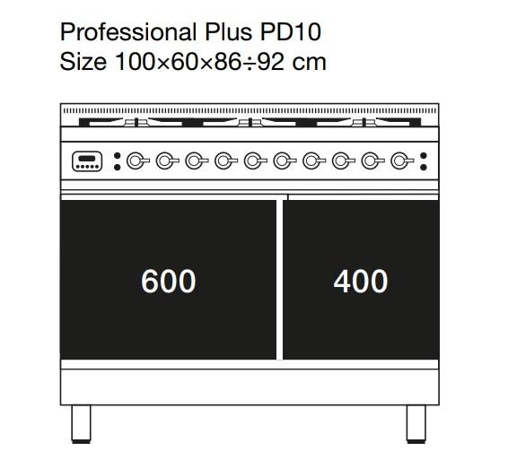 Электрическая плита шириной 100 см ILVE PDI10NE3