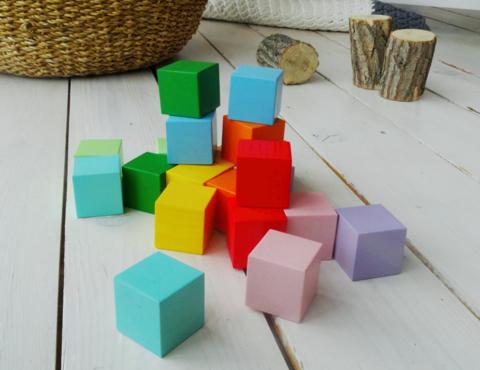 Набор настольный деревянный кубики 20 шт