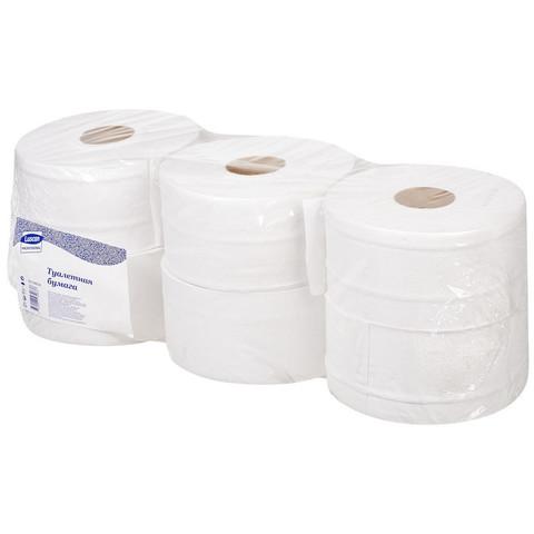 Бумага туалетная д/дисп Luscan Professional 2сл бел втор втул 250м 6рул/уп