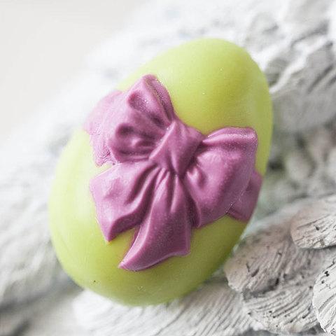 Мыло Яйцо с бантом. Форма пластиковая