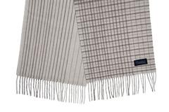 Шерстяной шарф, мужской светлый в клетку 30121