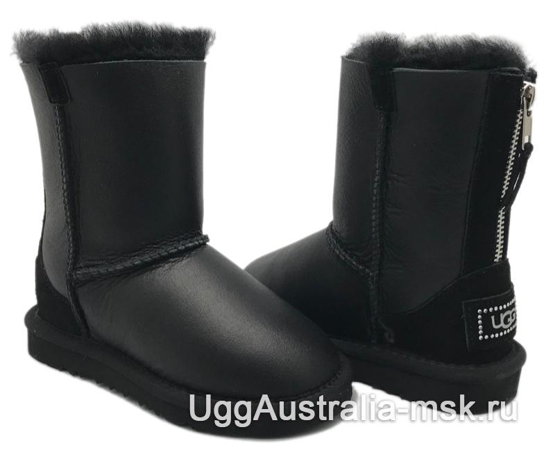 UGG Kids Zip Metallic Black