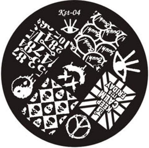 El Corazon Плитка для стемпинга диск Kst- 04