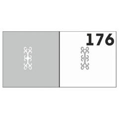 Трафарет для ногтей 6 шт. /1 уп. №176
