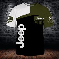Футболка 3D принт, Jeep  (3Д Джип) 02