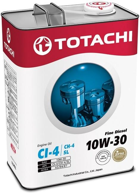 Fine Diesel 10W-30 TOTACHI масло минеральное дизельное моторное (4 Литра)