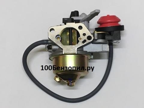 Карбюратор для двигателя снегоуборщика с краником, подкачкой  ( 9 л/с )