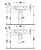 Раковина Duravit DuraStyle 60x44 2319600000 схема