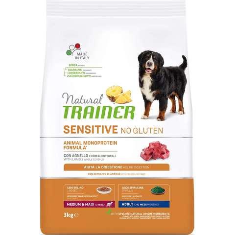 Trainer Sensitive Корм сухой для собак Медиум/Макси с ягненком и рисом 12 кг.
