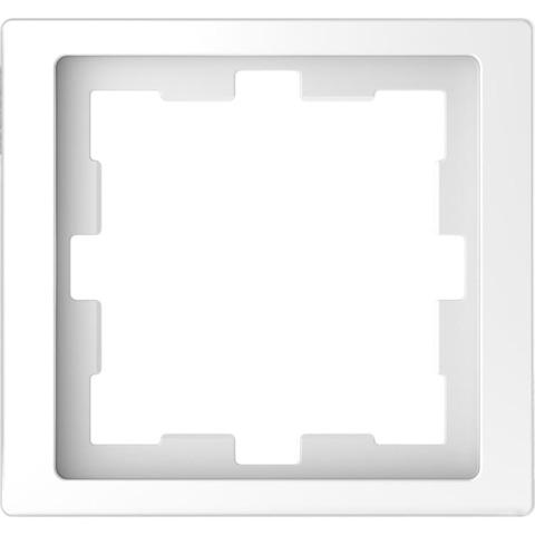 Рамка на 1 пост. Цвет Белый лотос. Merten. D-Life System Design. MTN4010-6535