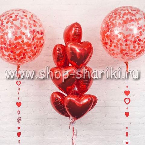 украшение шарами на 14 февраля