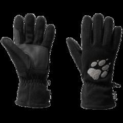 Перчатки флисовые Jack Wolfskin Paw Gloves black