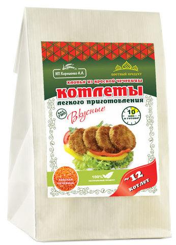 Котлеты из красной чечевицы с чесноком, 230гр (Вкусное дело)