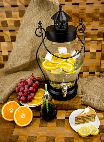 Стеклянный диспенсер для напитков «Кантри Фонарь», 5 литров
