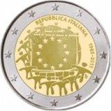 Италия 2015 год 2 Евро 30 лет флагу UNC из ролла