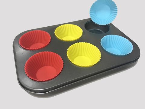Форма для выпечки капкейков, кексов, маффинов + силиконовые формы, 27*19см, ячейка 5*7*2.5см