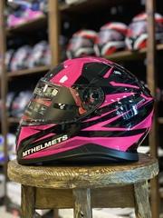Мотошлем MT Thunder 3 SV Effect, чёрный/розовый