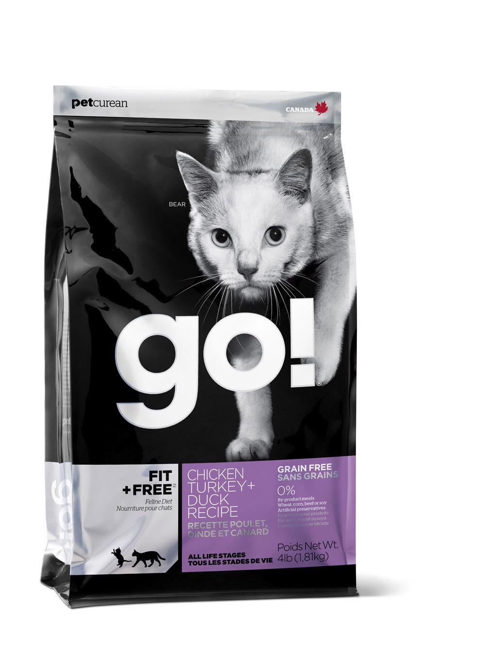 сухой беззерновой корм Go Гоу для котят и кошек - 4 вида мяса: курица, индейка, утка и лосось