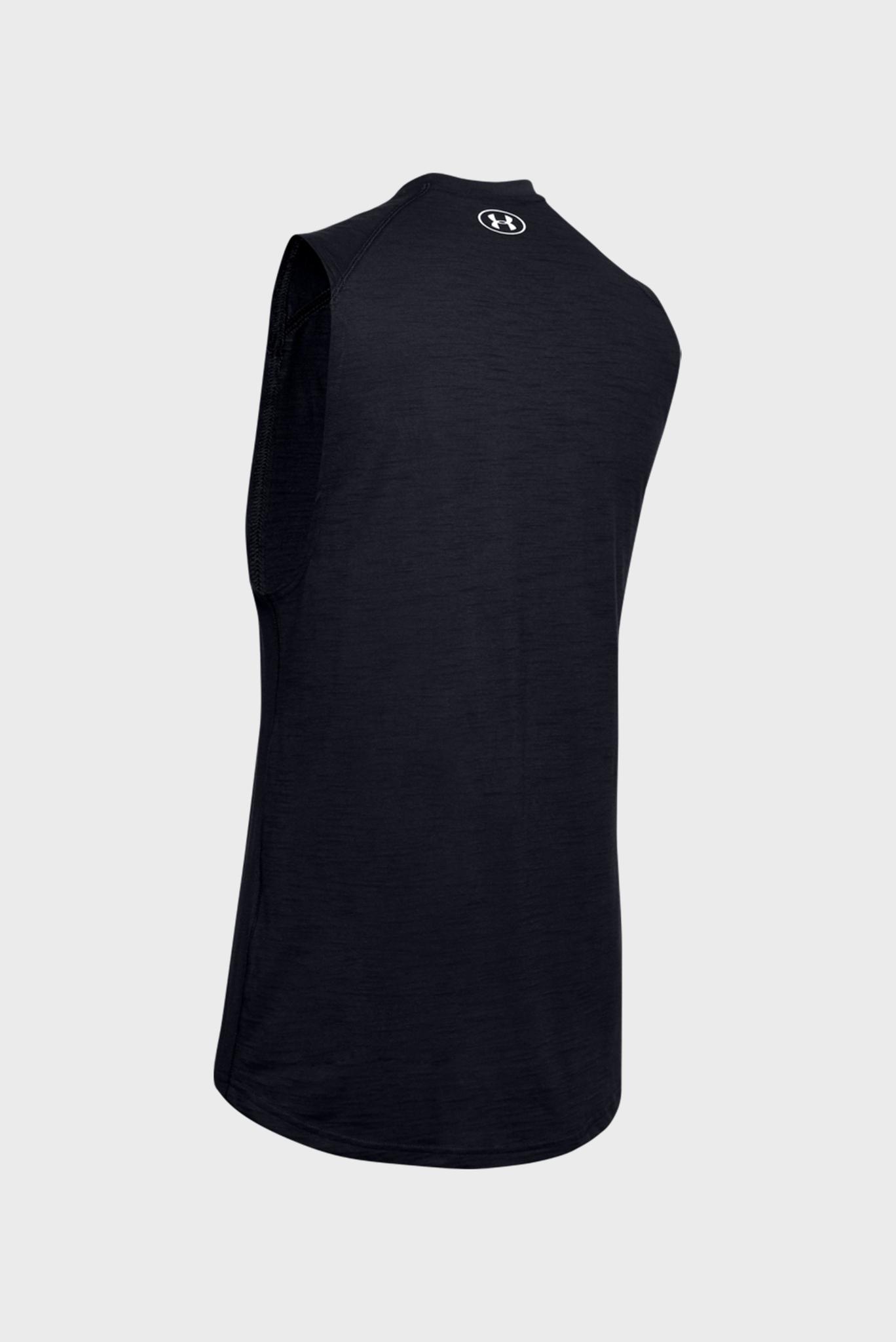 Мужская черная спортивная футболка Charged Cotton Tank Under Armour