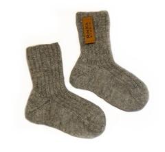 Шерстяные носки RinKa studio, серый меланж