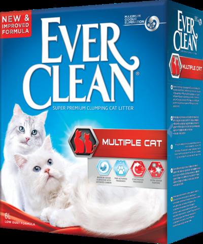 Ever Clean Multiple Cat комкующийся наполнитель для нескольких кошек в доме 10кг
