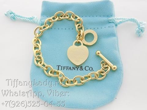 Браслет Tiffany Heart Gold