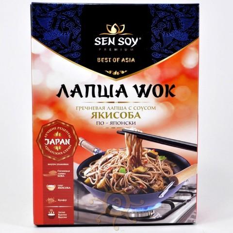 WOK по-японски (лапша гречневая с соусом Yakisoba и кунжутом) Sen Soy, 235г