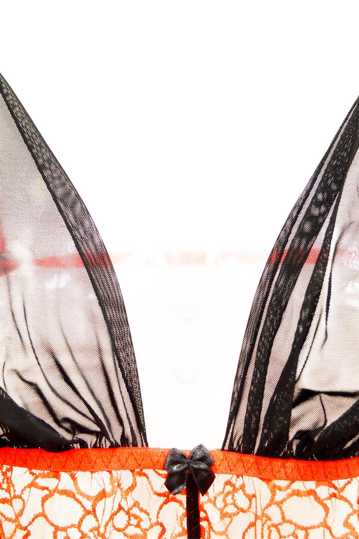 Эротическое черно-красное боди для полных женщин