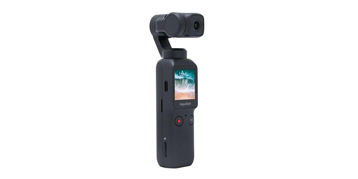 Экшн-камера Feiyu Pocket вид сбоку