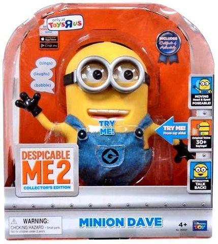 Гадкий я 2 интерактивная игрушка Миньон Дейв