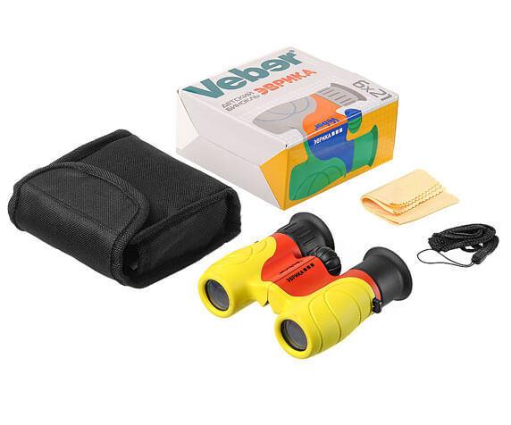 Комплект поставки детского бинокля Эврика 6x21