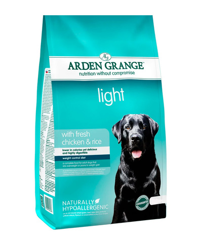Arden Grange Adult Light сухой корм для собак склонных к полноте (с курицей и рисом)  2 кг