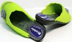 Модные домашние тапочки женские Inblu NC- 1B Mouse Light Green
