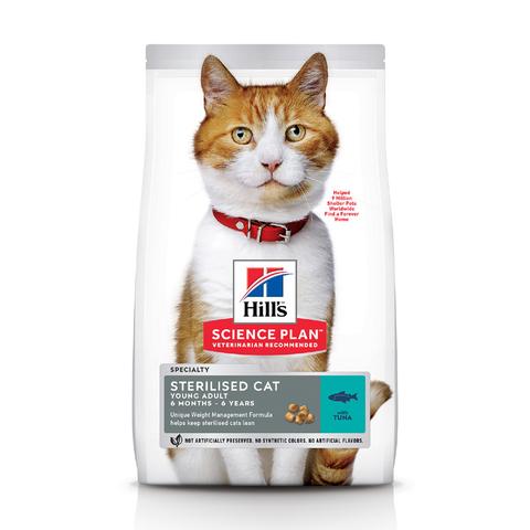 Hill's сухой корм для стерилизованных кошек до 7 лет (тунец) 1,5кг