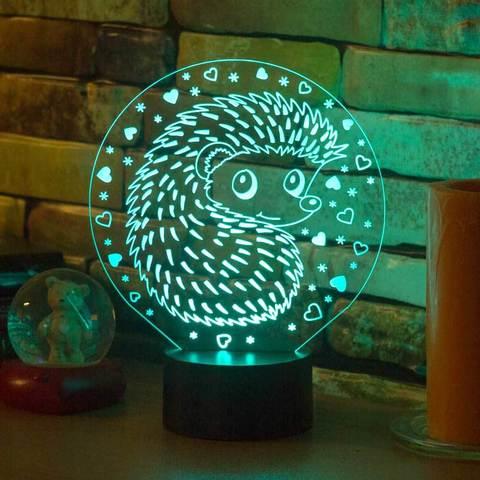 3D светильник Ёжик