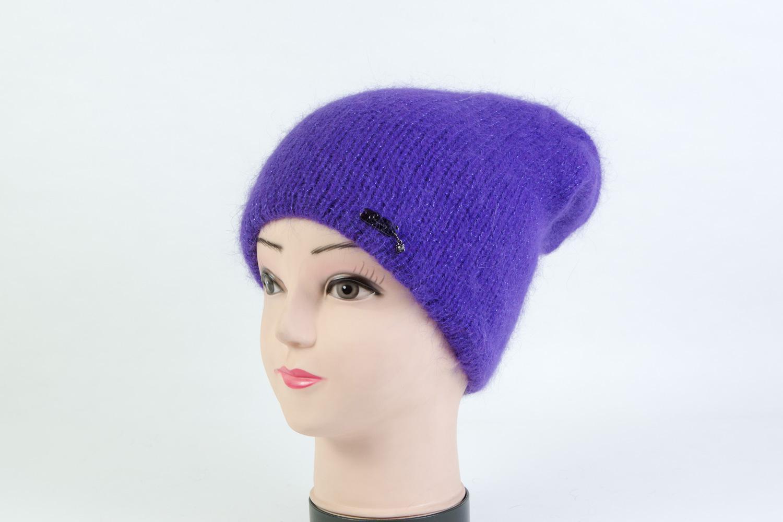 Женская шапка фиолетая SH SD45