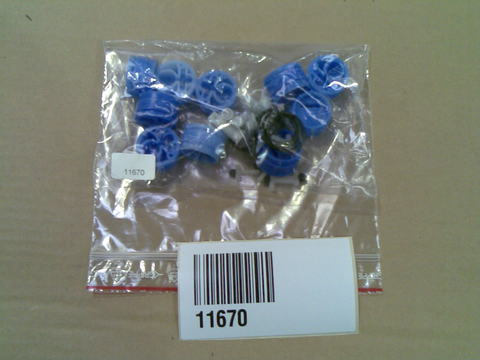11670 Комплект запасных частей для корпуса клапана, набор из 10 шт