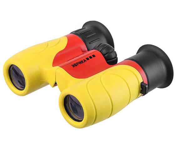 Бинокль Veber Эврика 6x21 в пластиковом корпусе желто-красного цвета
