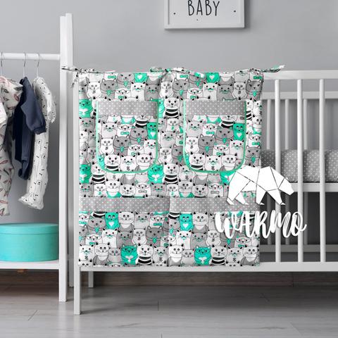 органайзер для ліжечка з м'ятними котиками фото