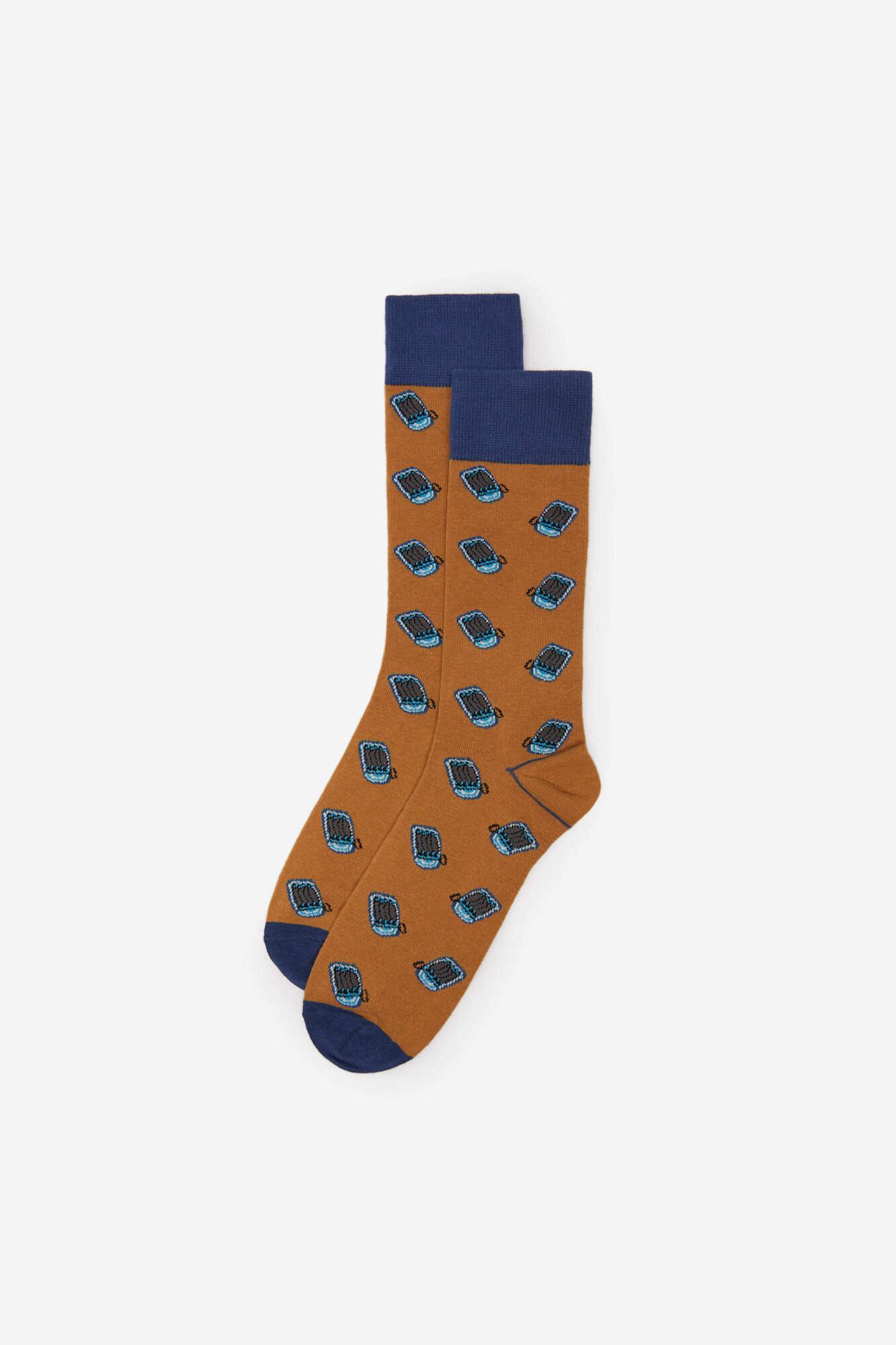 Шкарпетки з принтом «Банка сардин»