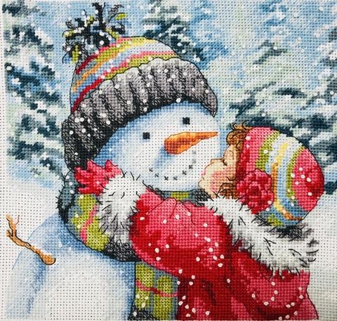 Набор для вышивания Поцелуй для снеговика. Арт. 1028
