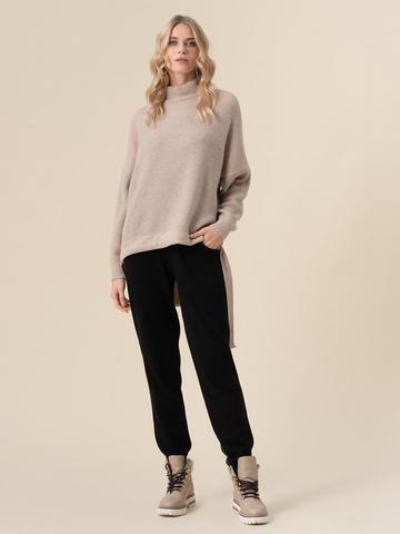 Женский свитер бежевого цвета из 100% кашемира - фото 5