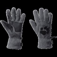 Перчатки флисовые Jack Wolfskin Paw Gloves grey heather