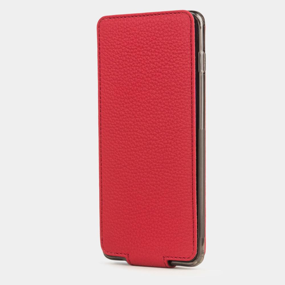 Чехол для Samsung Galaxy S10 из натуральной кожи теленка, красного цвета