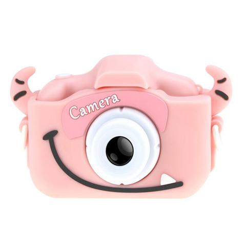 Детский фотоаппарат монстрик розовый