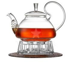 Заварочный чайник с подогревом от свечи, 800 мл