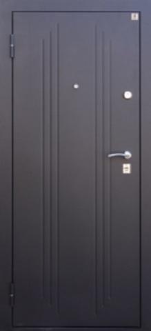 Дверь входная Т-3 (зеркало) стальная, орех таволато, 2 замка, фабрика Ретвизан