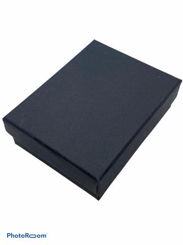 Подарочная, черная коробка для упаковки украшений (средняя)