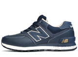 Кроссовки Мужские New Balance 574 Dark Blue White Leather